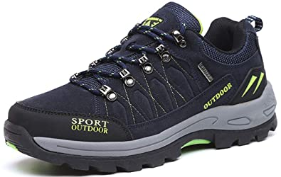 c9a6e71a563 Hiking Boots Lace-up Trekking Shoes Men Comfort Trainers Women Walking  Shoes Outdoor Sport Climbing Couples Shoes Anti-Slip Trail Backpacking  Camping ...
