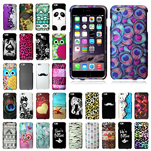 """myLife Peony Pink and Bat Black {Leopard Skin Spots Animal Print} 2 Piece Snap-On Rubberized Protective Faceplate Case for the NEW iPhone 6 Plus (6G) 6th Generation Phone by Apple, 5.5"""" Screen Version """"All Ports Accessible"""""""