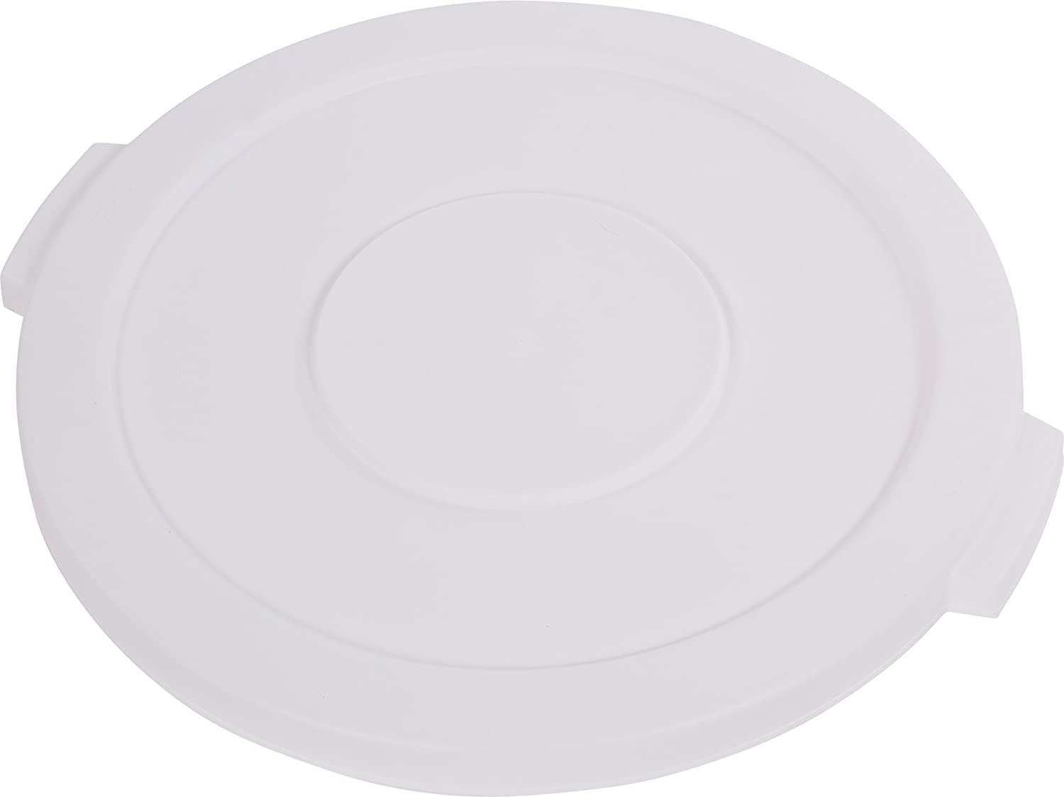 Carlisle 34102102 Bronco Round Waste Bin Food Container Lid, 20 Gallon, White