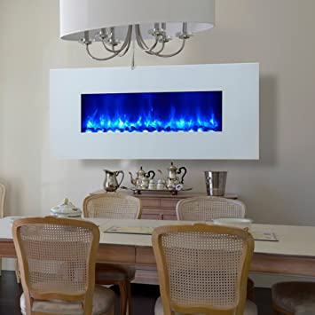 Amazoncom Miami LED Wall Mount Electric Fireplace Outdoor
