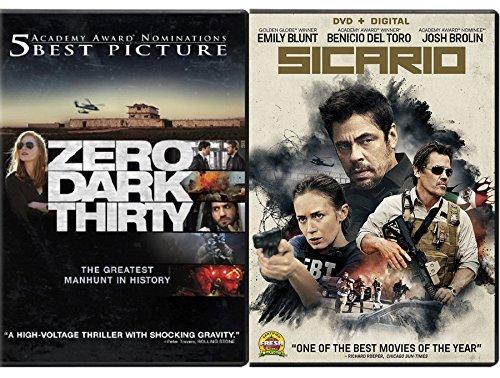 (Sicario & Zero Dark Thirty Bundle 2-DVD Set Double Feature Military Manhunt movies)