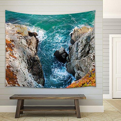 Seashore Rock Mountain Fabric Wall