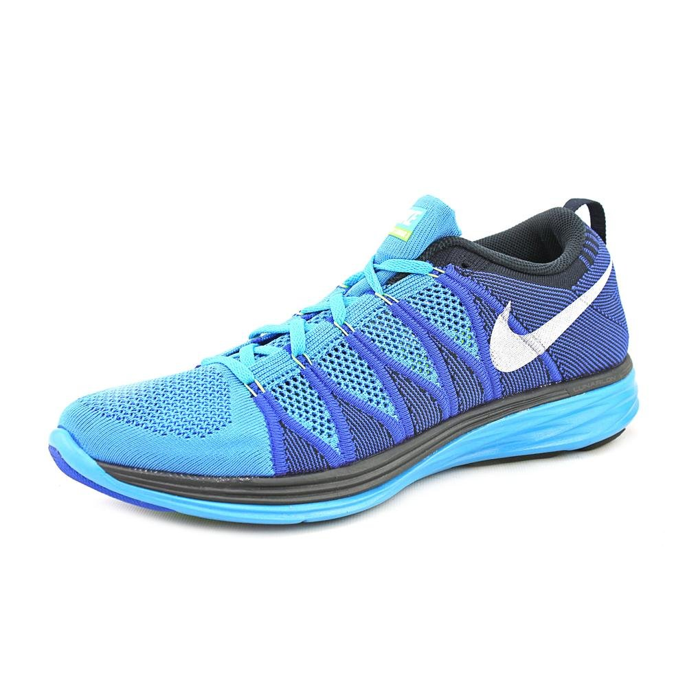new style 73a10 9ba6e Galleon - NIKE Flyknit Lunar 2 Mens Running Shoe, Blue White, US11.5