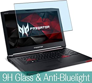 """Synvy Anti Blue Light Tempered Glass Screen Protector for Acer Predator 15 G9-592 / G9-593 15.6"""" Visible Area 9H Protective Screen Film Protectors (Not Full Coverage)"""