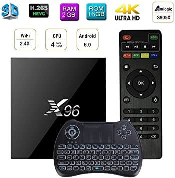 X96 Smart TV Caja Amlogic S905X Quad-core TV Box Smart TV BOX ...