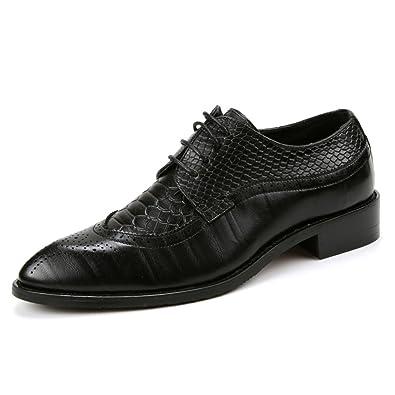 SEVENZAI - Zapatos de Cordones de Otra Piel para Hombre, Color Negro, Talla 38