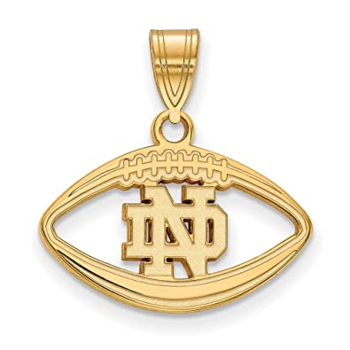 Amazon logoart sterling silver wgp university of notre dame logoart sterling silver wgp university of notre dame pendant in football gp019und aloadofball Choice Image