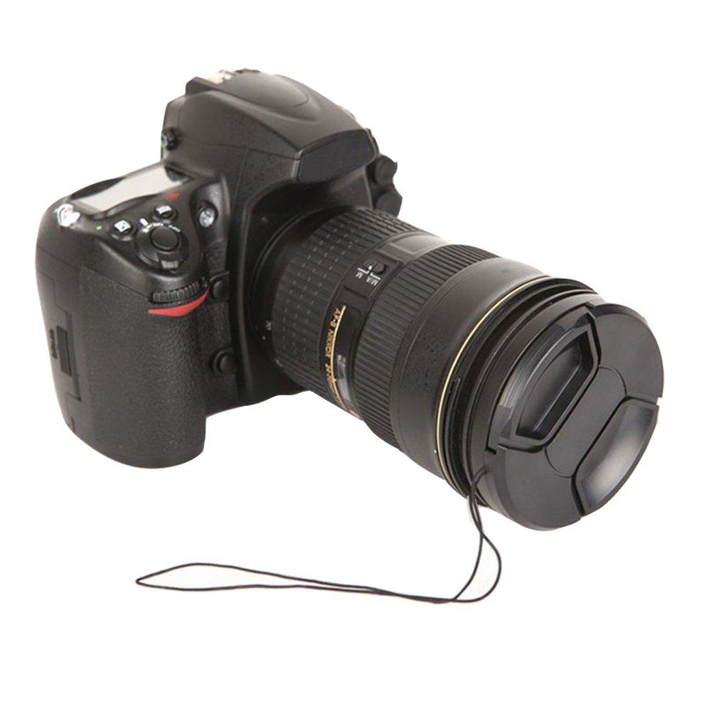 Pentax Market/&YCY 3 Piezas 55mm Tapa del Objetivo Leica etc. Canon Nikon Panasonic Olympus C/ámaras Samsung Ajustar el videoclip con Cadena para Videoc/ámaras Sony