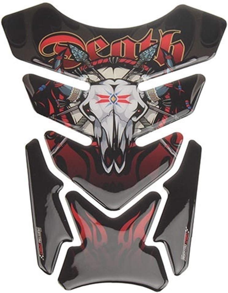 Tank 3D Skull Stickers Moto Tank Pad Gel Protector Sticker Decal For Honda CB CBR Suzuki Bandit 600 650 1200 1250 650S 600S Yamaha reflective Color : MP18 001 0211