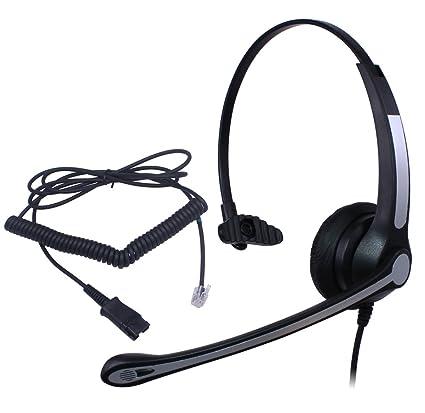 Audicom Wired Call Center Headset Headphones Quick Disconnect For AVAYA Lucent 6402D 6408D 6416D