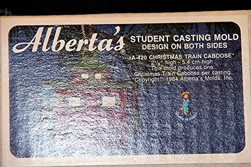 (Alberta's Student Casting Mold Designed On Both Sides - #A-420 Christmas Train Caboose)