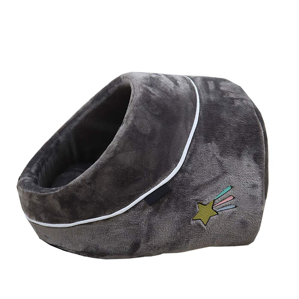 A 41X35X26CM A 41X35X26CM AHDA Pet Bed, Warm Cat Litter House in Winter, Single Hole Pet Nest, PP Cotton Padding, Fully Washable,A,41X35X26CM