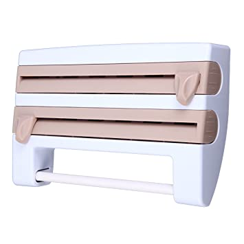 XuanYue - Toallero de pared 4 en 1, multifunción, soporte de plástico y dispensador