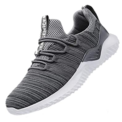 7cf5d5066abce0 MEAYOU Men's Sneakers Lightweight Breathable Mesh Gym Athletic Casual  Walking Jogger Shoes Slip On Outdoor Sport