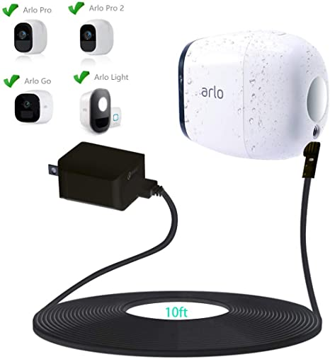NETGEAR POWER CABLE W Micro USB Cable Arlo Pro Arlo Pro 2 Camera Outdoor White