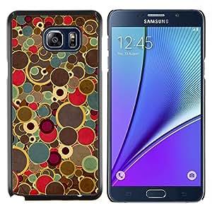 """Be-Star Único Patrón Plástico Duro Fundas Cover Cubre Hard Case Cover Para Samsung Galaxy Note5 / N920 ( Pintura del arte retro puntos Spots Colores vintage"""" )"""