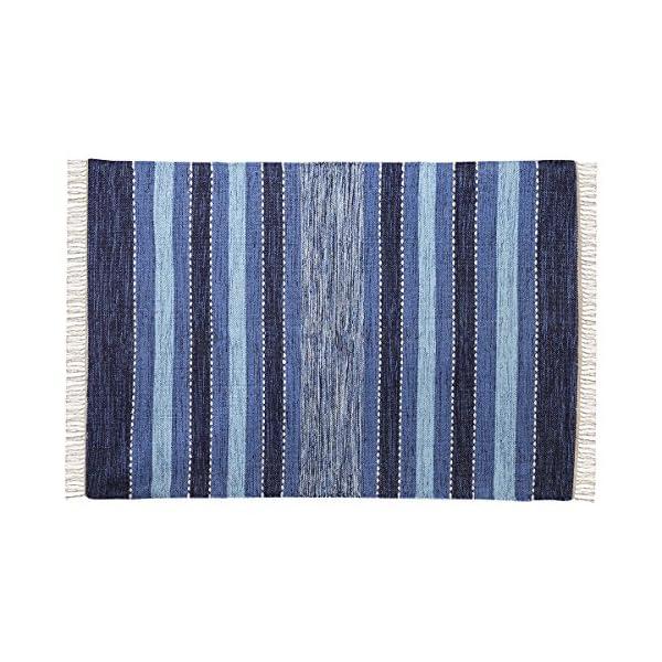 Elk Lighting 969027 Pillow/Rug/Textile/Pouf, Blue, Crema, Soft Denim