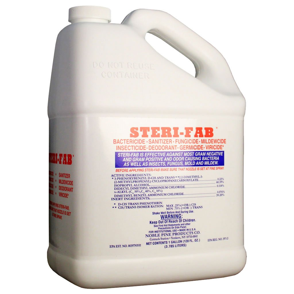 Steri-Fab Bactiricide-Sanitizer-Fungicide-Mildewcide-Insecticide (4 Gallons)