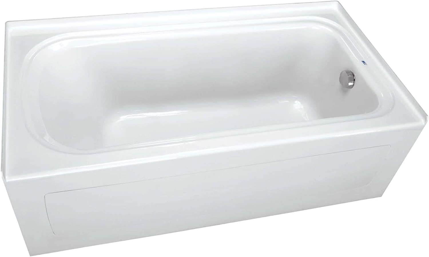 PROFLO PFS6042LSKWH 60 x 42 Alcove Soaking Bath Tub with Skirt and Left Hand Drain