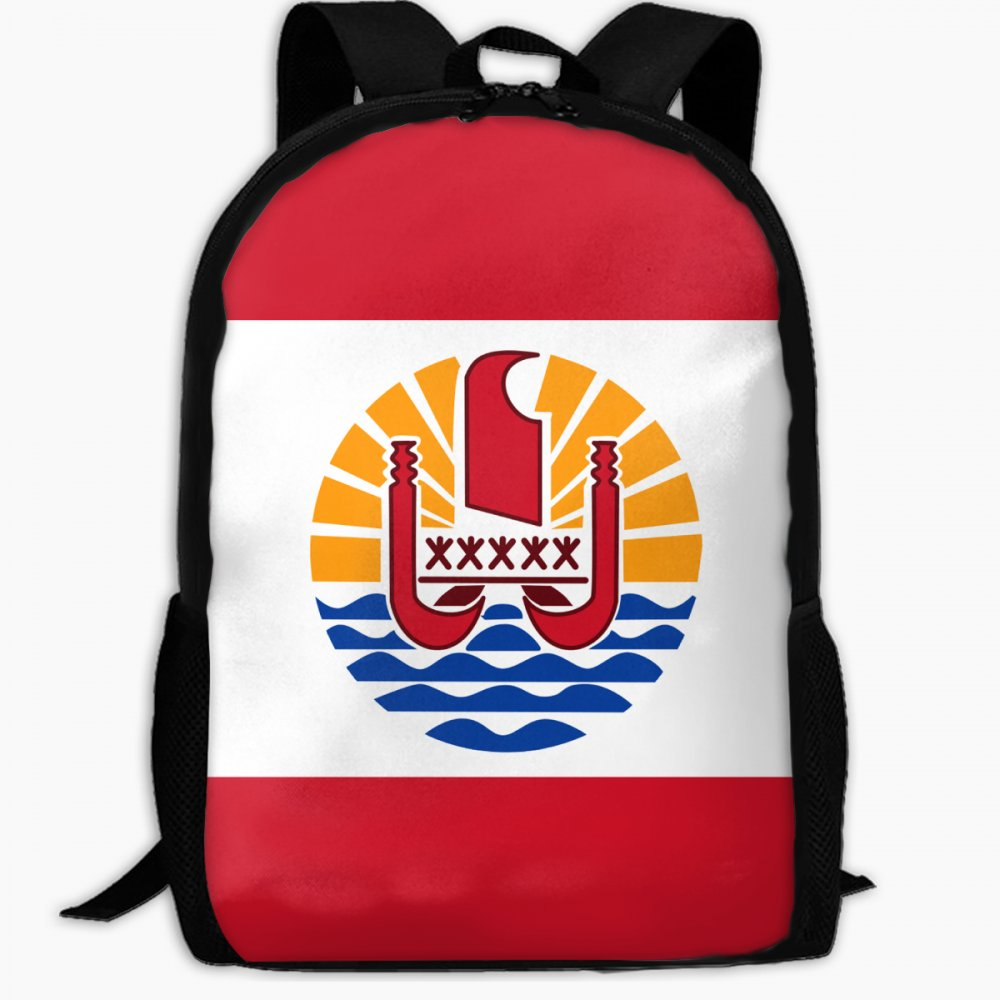ChunLei Mochila Escolar Infantil Bandera de la Polinesia Francesa Mochila de Viaje al Aire Libre Mochilas Estudiantes Niños Libro Bolsas Unisex Hombro ...