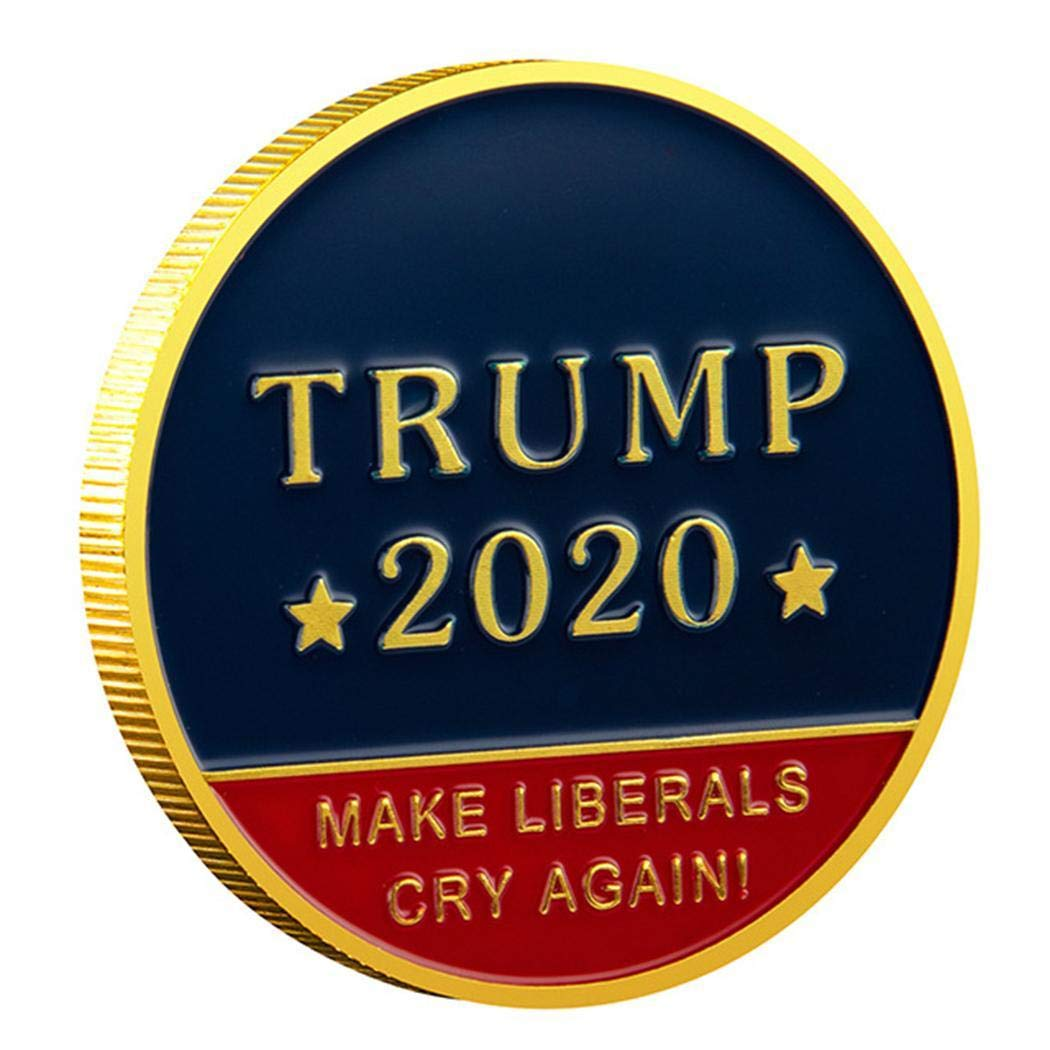 xabern New Trump 2020 Paint 45th US Presidential Commemorative Coins US Coins