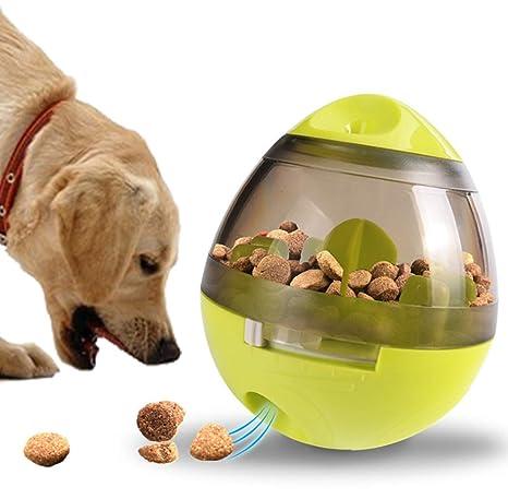 Authda - Dispensador de golosinas para Perros y Gatos con Forma de Pelota de Juguete Interactivo