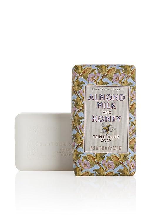 Crabtree & Evelyn Patrimonio leche de almendras y miel de fresado de jabón 158 g