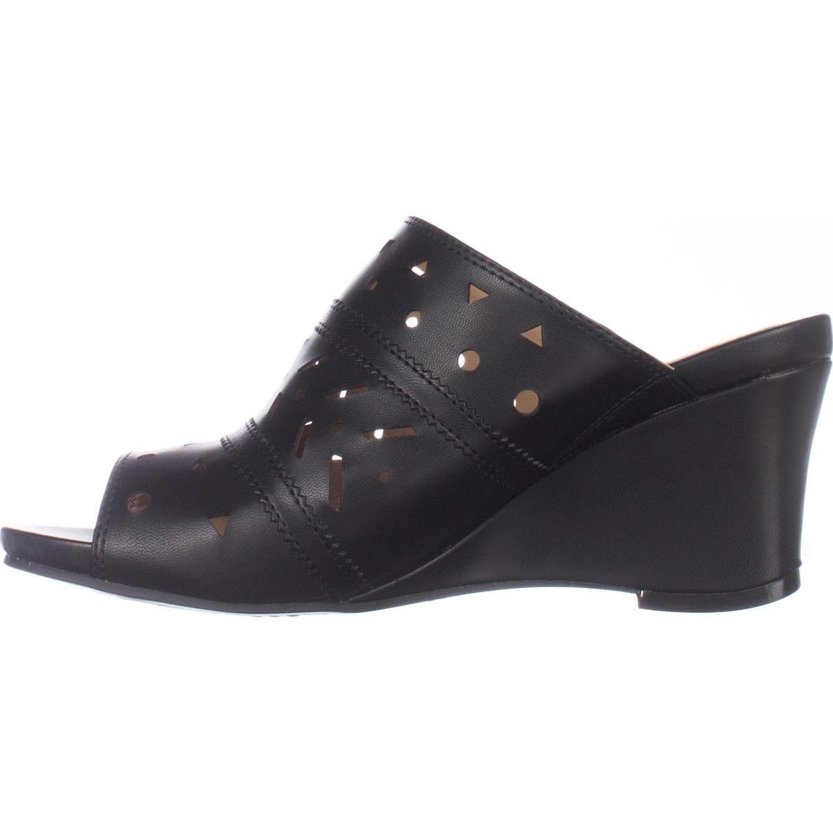 Naturalizer Womens Neha Open Toe Mules Black Size 10.0