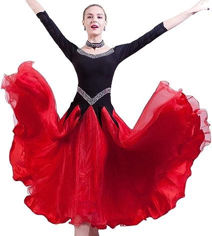 JTSYUXN Vestidos De Baile De Salón Nacionales For La Falda De ...