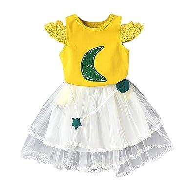 1-6 Años, SO-buts Niños Bebé Niña Verano Casual Moda Luna Princesa ...