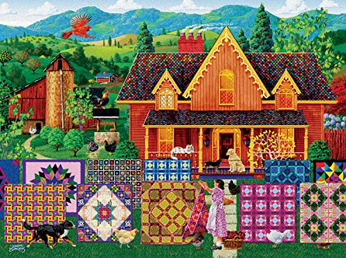Morning Day Quilt 500 pc Jigsaw Puzzle by SunsOut (Day Quilt)