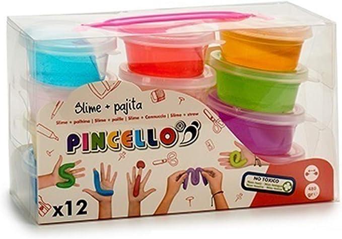 Pincello Juego 12 Botes Slime 40gr Cada uno,Set 12 ollas Tarro de Limo Slime 40gr Super Slime Colores Surtidos: Amazon.es: Juguetes y juegos