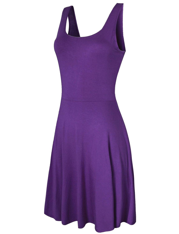 HRYfashion Damen Minikleid eng anliegend klassisch geschnitten aermellos