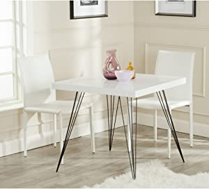 Safavieh Home Collection Wolcott Mid-Century Modern White and Black Accent Table