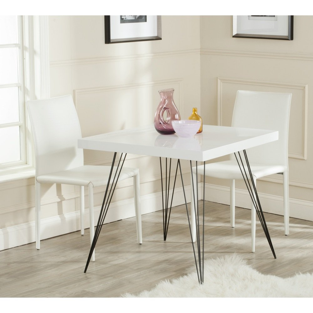 Safavieh Home Collection Wolcott Mid-Century Modern White and Black Accent Table by Safavieh