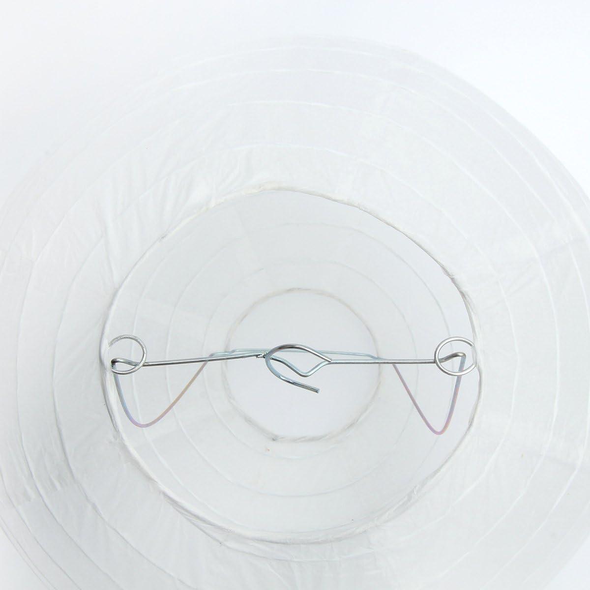 mit LED Dazone Lampion chinesisch 15cm wei/ß Party Kugel-Laterne Weihnachten Lampenschirm aus Papier Set mit 10/St/ück Haus Papier f/ür Hochzeit zur Dekoration