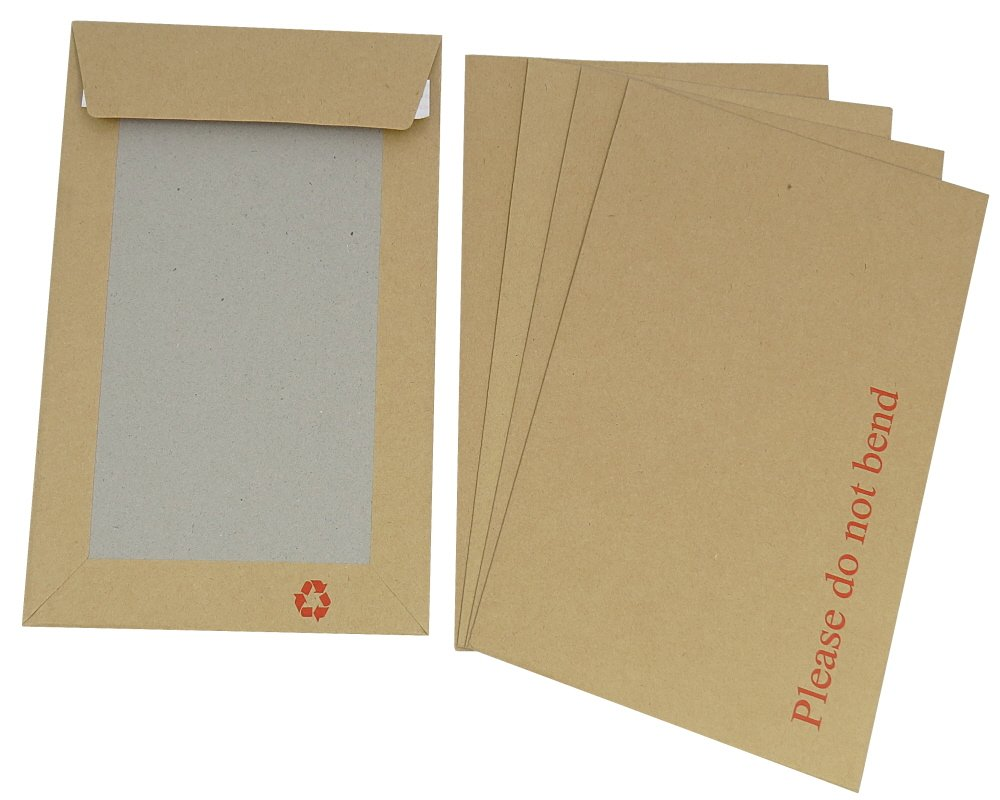"50 Large A3 C3 Size Strong Hard Board Backed Envelopes 'Do Not Bend' Peel + Seal - 324 x 457mm / 12.75 x 18"" Rigid Postal Packing Mailing Shipping Postage Posting Self Seal Packaging Mailers"