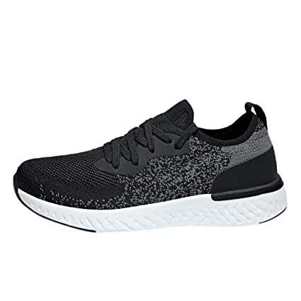 b9eefce49202c Amazon.com : JJLIKER Women's Mens Couple Mesh Knit Casual Sneakers ...