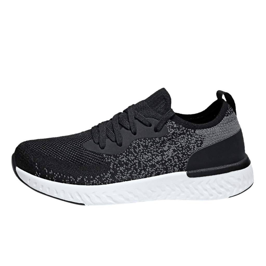 JJLIKER Women's Mens Couple Mesh Knit Casual Sneakers Lightweight Breathable Outdoor Hiking Tennis Shoes in Summer