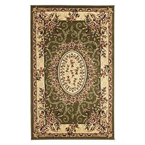 Safavieh Lyndhurst Collection LNH328B Traditional European Medallion Sage and Ivory Rectangle Area Rug (8'11