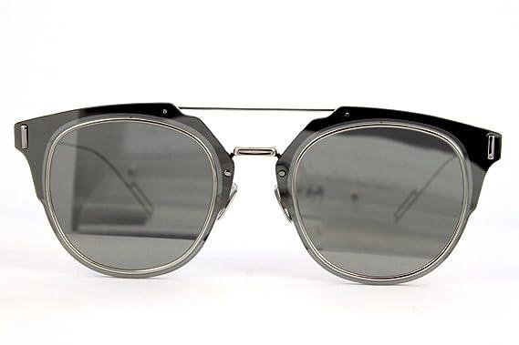 45272ac2697 Amazon.com  Dior Homme Composit 1.0 010 Palladium Composit 1.0 Round  Sunglasses Lens Catego  Dior Homme  Clothing
