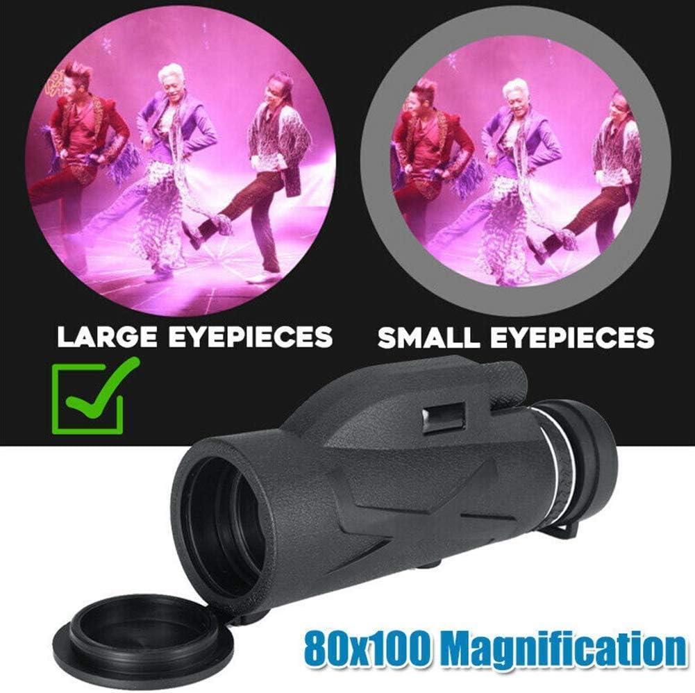 Monoculaire T/él/éscope 80x100 Imperm/éable Haute puissance Monoculars /Étendue avec Standard Accessoires Zoom Vision Nocturne HD Lentille Optique Monoculaire T/él/éscope type 1