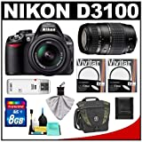 Nikon D3100 Digital SLR Camera and 18-55mm VR + Tamron 70-300mm Di Lens with 8GB Card + Filters + Lowepro Case + Accessory Kit, Best Gadgets