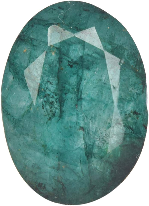 Real Gems Tamaño pequeño Tamaño del Anillo de Esmeralda Piedras Preciosas Naturales, Piedra Verde Esmeralda de 6.50 CT, Piedra facetada de Forma Ovalada