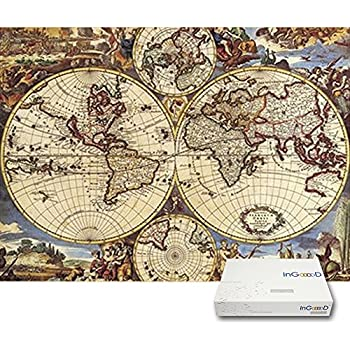 Amazon antique world map 1000 piece puzzle varios toys games ingooood imagination series world map paper jigsaw puzzles 1000 pieces for adult gumiabroncs Images