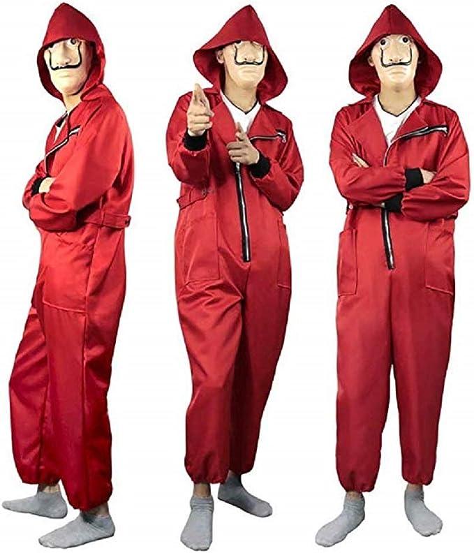 La Casa De Papel Disfraz y máscara, Salvador Dali Big Red Jumpsuit ...