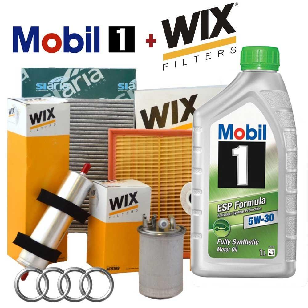 Kit Tagliando aceite Mobil 1 ESP 5 W30 5lt + 4 Filtros Wix: Amazon ...