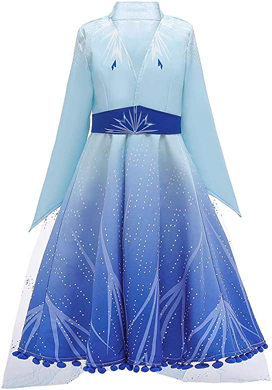 Disfraz de Princesa Elsa Frozen Vestido Largo Niñas Carnaval ...