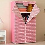 Generic Brand New Fashion Single Folding Wardrobe Reinforced Bold Closet Dustproof Waterproof Moistureproof Armoire for Kids