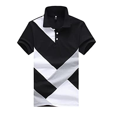 e3281af9 Image Unavailable. Image not available for. Color: Giles Abbot 2018 Summer  New Men's Polo Shirt Fashion Casual Cotton Short ...